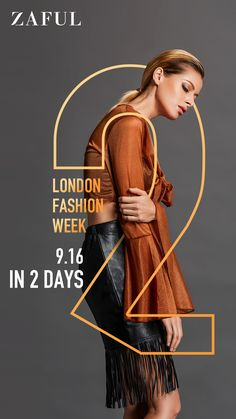 Check the london fashion show and discover the new styles of fashion show collection for women according to London Fashion Week spring summer 2019 at ZAFUL! Creative Poster Design, Creative Posters, Graphic Design Posters, Graphic Design Inspiration, Typography Design, Fashion Graphic Design, Poster Layout, London Fashion Week 2018, Posters Conception Graphique