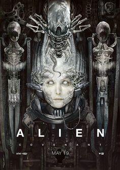 An imaginary Alien:Covenant poster from April Hope you like it. Alien Film, Alien 1979, Alien 2017, Les Aliens, Aliens Movie, Arte Alien, Alien Art, Xenomorph, Alien Covenant Movie