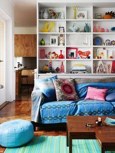 Color y mezcla en una casa de Melbourne