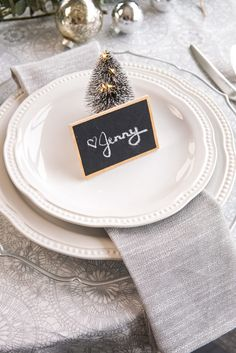 Table decor is often over-looked with all the holiday hustle and bustle, but having an inviting table really sets the tone for your company. Napkin Folding, Side Plates, Name Cards, Tablecloths, Candy Cane, Twine, Party Favors, Holiday, Christmas