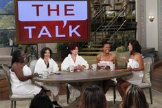 """No lipstick! No blush! No false eyelashes! To kick off Season Three, the ladies of THE TALK """"take it all off,"""" going completely natural and makeup-free for the live season premiere of the CBS Daytime talk show, Monday, Sept. 10 (2:00 PM, ET / 1:00 PM, PT. Sheryl Underwood, from left, Sara Gilbert, Sharon Osbourne, Aisha Tyler and Julie Chen, shown."""