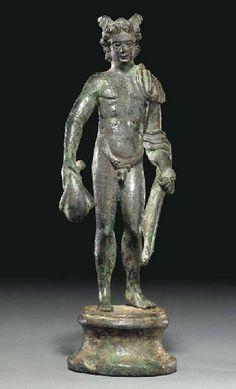 A ROMAN BRONZE MERCURY CIRCA 1ST-2ND CENTURY A.D. Ancient Rome, Ancient Art, Ancient History, Greek And Roman Mythology, Greek Gods And Goddesses, Roman Sculpture, Bronze Sculpture, Masculine Art, Roman Gods