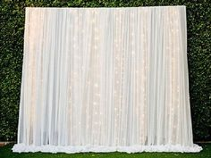 Kate Wedding Photography Background,Wedding White Curtain With Grass Backdrops For Photographers,No Winkle Seamless Collapsible Photo Studio Backgrounds