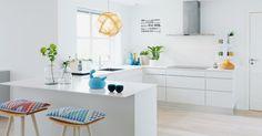 Sprit opp et hvitt kjøkken / pimp a white kitchen Kitchen Interior, Modern Interior, Interior Styling, Interior Design, Kitchen Layout, Kitchen Colors, Kitchen Dining, Kitchen Decor, Kitchen Ideas