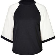 3.1 Phillip Lim 3/4 Sleeve Cotton Jersey Baseball T-Shirt on shopstyle.com