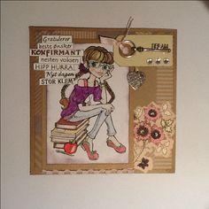 Konfirmasjon, jente Scrapbooking, Cover, Frame, Home Decor, Art, Picture Frame, Art Background, Decoration Home, Room Decor