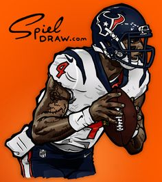 Digital illustration of Clemson quarterback Deshaun Watson. Created with Procreate and Photoshop. Clemson Quarterback, Houston Texans Football, Clemson Football, Football Art, Clemson Tigers, Auburn Tigers, Football Players, Football Helmets, College Football