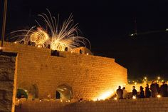 That night, a fire show illuminated the night sky above Fort Lovrijenac.