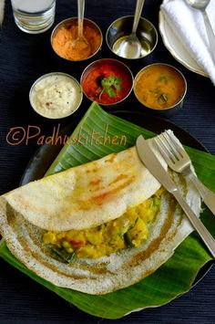 A masala dosa is made by stuffing a dosa with lightly cooked potatoes, onions, green chilli and spices. According to Wikipedia Masala do. Indian Food Recipes, Vegetarian Recipes, Cooking Recipes, Ethnic Recipes, Kerala Recipes, Paneer Recipes, Curry Recipes, Easy Cooking, Potato Recipes