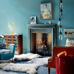 [ beautiful + #livingroom + colors + amazing light fixture ] world of interiors
