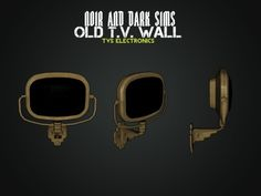 Old TV Wall, Gas Tank and Hotel Sign Decor - Sims 3 Downloads CC Caboodle