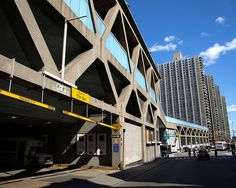 George Washington Bridge Bus Terminal and Bridge Apartment Towers, Washington Heights, New York City by jag9889, via Flickr