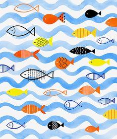 Margaret Berg Art: School+of+Gold+Fish