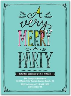 Flat Holiday Party Invitations Cherished Days - Front : Reef