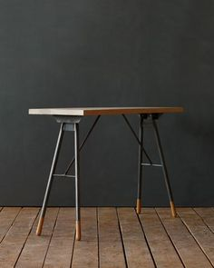 Lostine Brandywine console table wood iron usa