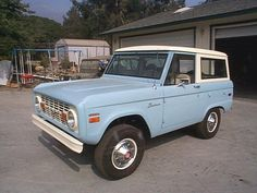 Baby Blue 1970 Ford Bronco - my grandfather had one just like it. This brings back so many memories