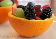 Fruit Bowls in Orange Halves: So pretty and easy to make!