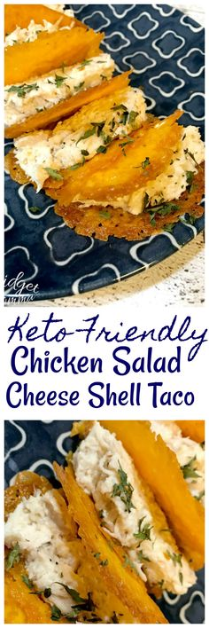 These chicken Salad Cheese Shell Tacos are Keto Friendly and low carb. These keto tacos are really easy to make and they taste amazing.