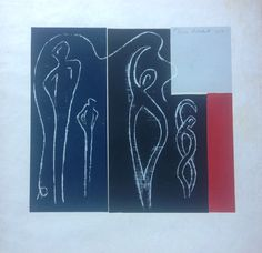 Denis Mitchell, untitled woodcut, size 11,1/2x 11,1/2. Modern Art, Contemporary, Pen And Wash, Contemporary Art, Contemporary Artwork
