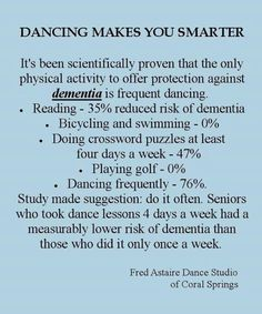 Dancing and dementia