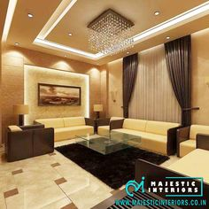 black and brown living room - Ceiling design Drawing Room Ceiling Design, Drawing Room Interior, House Ceiling Design, Ceiling Design Living Room, Bedroom False Ceiling Design, Home Ceiling, Home Room Design, Living Room Designs, False Ceiling Ideas