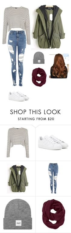 """""""Untitled #471"""" by ericanunes on Polyvore featuring Topshop, adidas, HUF and Athleta"""