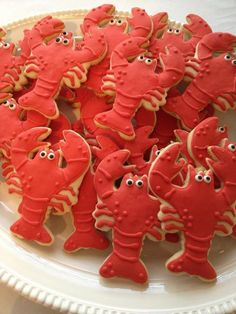 Crawfish boil wedding shower cookies
