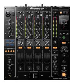 Pioneer DJM-850 4-Channel Professional DJ Mixer Black. Been getting more into music in different format: vinyl, MP3, CD - 4-channel would bring it together.