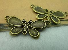 20pcs 18x40mm Antique Bronze / Antique Silver Butterfly by JuanGao, $6.00