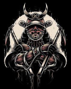 regram A Samurai Gi's artwork for a client. Japanese Tattoo Designs, Japanese Tattoo Art, Japon Illustration, Japanese Illustration, Kabuto Samurai, Samourai Tattoo, Samurai Warrior Tattoo, Gaming Logo, Arte Ninja