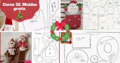 Curso 32: Mis queridas seguidoras no se pierdan esta asombrosa colección de moldes navideños que hemos traído para ustedes. Baby Shower Favours, Chile, Diy And Crafts, Christmas Crafts, Sweet Home, Dolls, Holiday Decor, Home Decor, Scrappy Quilts