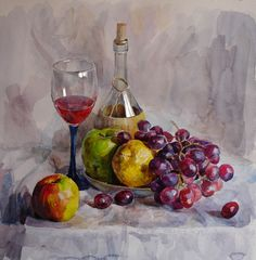 Still Life with grapes by ~Pervandr on deviantART