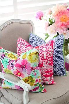 colourful cushions