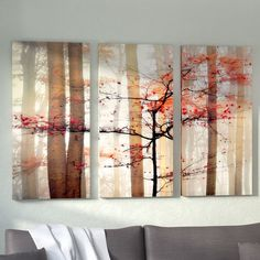 'Orange Awakening' Photographic Print Multi-Piece Image on Wrapped Canvas Artist Canvas, Canvas Art, Canvas Prints, Painting Prints, Art Prints, Paintings, White Wall Decor, Art Mural, Reproduction