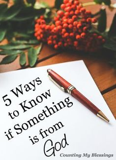 There are things you can do to know if something is from God. Here are 5 things we've done when we question His will or guidance.
