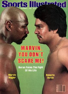 Hagler Duran Sports Illustrated November 7 1983 ~ Marvin, You Don't Scare Me! Kickboxing, Jiu Jitsu, Paul Mccartney, Michael Jackson, Karate, Muay Thai, Marvelous Marvin Hagler, Ufc, Boxing Images