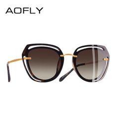 283fd7adb2c AOFLY BRAND DESIGN Square Sunglasses Polarized Women Shades A119  Discounts   BestPrice