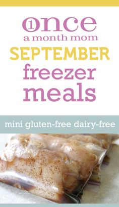 Specialty Gluten Free Dairy Free Mini September 2012 Menu