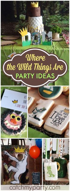 What an awesome Where the Wild Things Are party! See more party ideas at http://CatchMyParty.com!