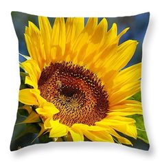 """SOLD a throw pillow of """"Color Me Happy Sunflower"""" on www.rollosphotos.com thanks to a buyer from Spokane, WA!   http://rollosphotos.com/saleannouncement.html?id=8cbabb190184af9b329e80fc1bb5ecb1"""