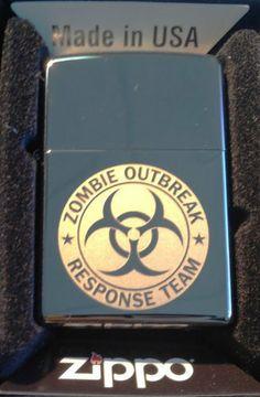 Zippo Custom Lighter - Biohazard Toxic Seal Zombie Outbreak Response Team Logo Black ICE High Polish Chrome Rare! by Zippo. $38.95