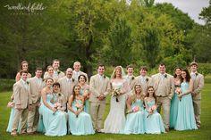 Woodland Fields Photography | South Georgia Albany Wedding Photographer | large bridal party | turquoise tiffany blue bridesmaid dresses