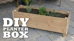 DIY: Raised Bed Patio Planter - YouTube