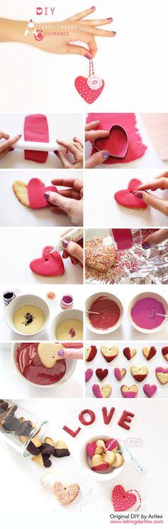 Valentine's day DIY // Sweet heart cookies DIY // DIY Saint-valentin // DIY attrape-coeurs gourmands // Blog mode et DIY Artlex