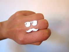 Smiling-SilverSmith | Mr. Mustache with Sunglasses Version 2 | $59
