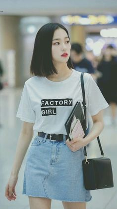 Kpop Fashion Outfits, Korean Outfits, Girl Outfits, Cute Outfits, Korean Airport Fashion, Asian Fashion, Girl Fashion, Kpop Mode, Oppa Gangnam Style
