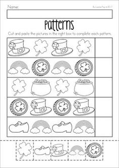 free winter patterns cut and paste worksheet teacher ideas pinterest worksheets pattern. Black Bedroom Furniture Sets. Home Design Ideas