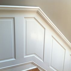 10 Fantastic Tips Can Change Your Life: Black Wainscoting Banisters wainscoting stairway woodwork.Types Of Wainscoting Home wainscoting nursery little girls.Wainscoting Nursery Little Girls. Staircase Molding, Stairs Trim, Narrow Staircase, Staircase Design, Wood Staircase, Staircase Ideas, Modern Staircase, Dining Room Wainscoting, Wainscoting Panels