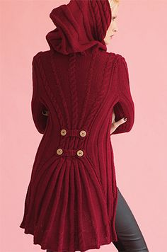 Ravelry: #16 Hooded Waistcoat pattern by Shiri Mor/ The Pattern for this coat is in Vogue Holiday Edition 2014