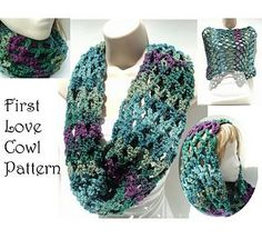 This lovely cowl or head scarf is a 1 skein project of bulky yarn and a super easy project for a beginner - using only chain and single crochet stitches.